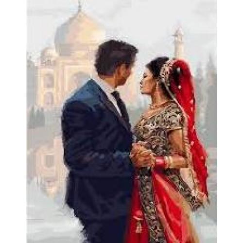 Влюбени пред Тадж Махал