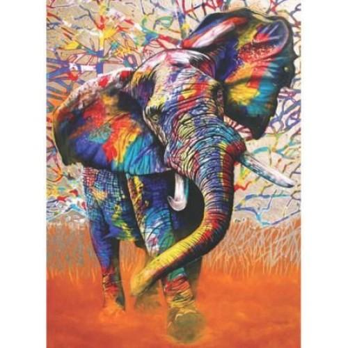 Разноцветен слон