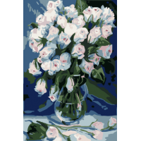 Ваза с цветя - (20х30см)