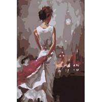 Дамата в бяло - (20х30см)